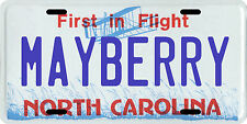 The Andy Griffith Show Mayberry North Carolina metal License plate