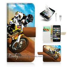 iPhone 5 5S Print Flip Wallet Case Cover! Motocycle Bike P0043