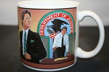 Rare Vintage Department of Justice Coffee Mug Cup The Professionals by Alberte