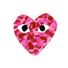 comme des garcons A Bathing Ape Pink Camo bape glossy decal vinyl sticker #1308