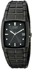 Men's Citizen Eco-Drive Black Solar Power Watch BM6555-54E