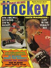 1972 Sports Review Hockey magazine Ken Dryden Montreal Canadiens~ Keith Magnuson