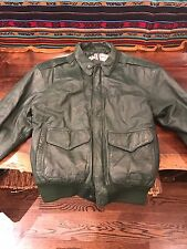 GENERAL CLOTHING COMPANY 100% Auth. green bomber leather jacket REAL VINTAGE 38
