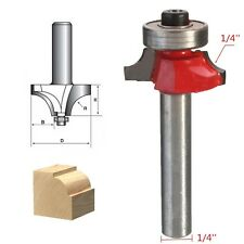"1/4"" x 1/4"" Shank Rail & Stile Round Over Beading Edging Router Bit Cutter Tool"