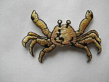 #3291 Golden Crab Embroidery Iron On Applique Patch