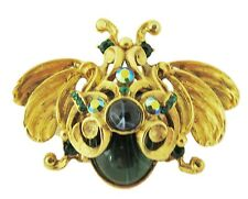 New JOSE MARIA BARRERA Crystal Bug Brooch, Pin KK