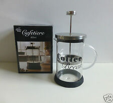 Cafetiere - Coffee Break Logo - Capacity 800ml- For Use With Ground Coffee-NEW