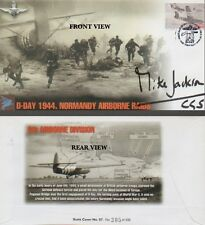 NORMANDY AIRBOURNE RAIDS Ltd Ed FDC 305/500 Signed By SIR MIKE JACKSON COA