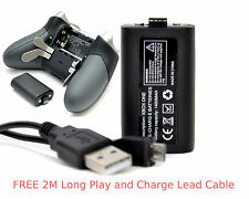 XBOX ONE ELITE Rechargeable Battery Pack + 2M Long Lead Cable for Controller Pad