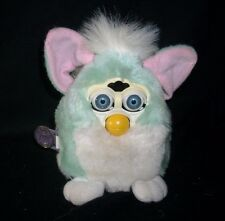 VINTAGE ORIGINAL 1999 FURBY BABIES GREEN & WHITE ELECTRONIC TIGER TALKS WORKS