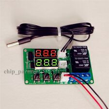 12V Digital Thermometer Temperature Controller Dual Relay Alarm Air Regulator