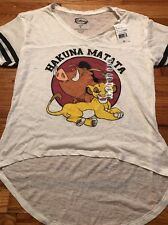 NWT Disney Lion King Burnout Striped Sleeve Tee Shirt Women's Size Large
