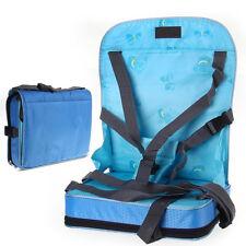 Bleu Coussin Chaise Haute Rehausseur Siège Sécurité pour Repas Bébé Enfant
