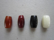 "100 BUFFALO BONE/HORN 1/2""  HAIRPIPE BEADS AMBER BLACK RED & WHITE"