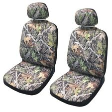 Forest Gray Camo Seat Covers Front Pair Camouflage Fits Chevy Silverado