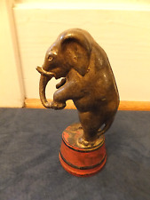 """Cast Iron Circus Elephant Bank, Vintage Bank 5 1/4""""  x 2"""" Numbered 1036"""
