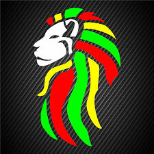 Rasta Sticker Decal Reggae Lion Of Judah White Face Beach Tropical Island