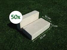 50 Mattoni in Pietra di Trani 20x10x5cm blocchi per ornamento aiuole e giardino