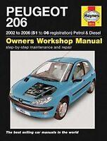 Haynes Owners + Workshop Car Manual Peugeot 206 (01-06) Petrol + Diesel H4613