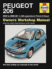 Haynes Owners + Workshop Car Manual Peugeot 206 (01-06) Petrol + Diesel H4613