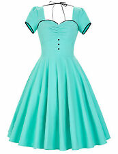 Women 50s 60s Swing Vintage Retro Housewife Pinup Formal TEA Evening Party Dress