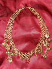 RENAISSANCE FAIRE CHAINMAIL NECKLACES LOT OF TWO STUNNING! AMBER BEAUTIES.