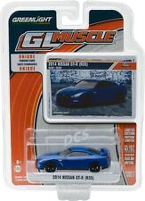 GREENLIGHT MUSCLE  2014 Nissan GT-R (R35) - Blue  1/64 DIECAST CAR 13170-F