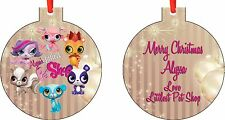 Personalized Littlest pet shop Ornament ( Add Any Message You Want)