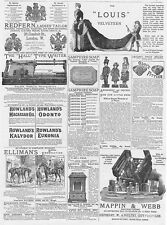 Victorian Adverts; Louis Velveteen, Redfern Tailors Toy Dolls-Antique Print 1886