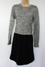 BNWT NEXT NEW Ladies 2 IN 1 fine knit jumper long line blouse set black grey  8