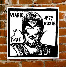 Nate Duval Obey Wario Destroy Mario Regular Ed. Poster Shepard Fairey Obey Andre