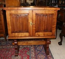 French Antique Gothic Hall Cabinet / Server / Bar