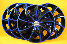 "16"" NISSAN PRIMASTER,PRIMERA,ALMERA,etc..WHEEL TRIMS,COVERS, HUB CAPS blue&black"