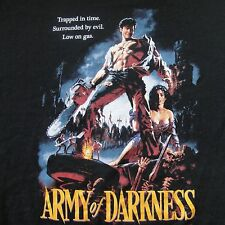 Army of Darkness T-Shirt Extra Large Black Bruce Campbell Movie Poster Sexy Cool