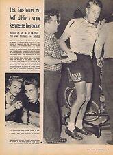 Coupure de presse Clipping 1958  Six-jours Vel' d'Hiv à Paris (4 pag) J.Anquetil