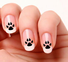 20 Nail Art Stickers Transfers Decals #733 - Dog paw prints Just peel & stick