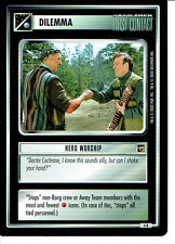 STAR TREK CCG THE MOTION PICTURES RARE CARD HERO WORSHIP