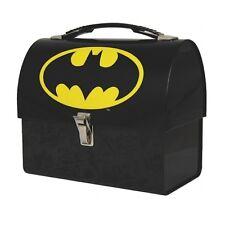 Batman abovedado Almuerzo/Almacenamiento Estaño Metal Lata de almacenamiento de producto con licencia.