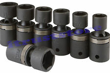 "1/2"" DR FLEXIBLE U-JOINT AIR IMPACT FLEX METRIC MM UNIVERSAL WOBBLE SOCKET SET"