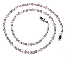 Light Amethyst Austrian Crystal / Purple Bead Mix Eyeglass Chain