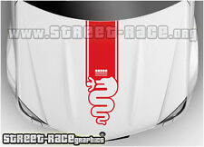 BS2002 Alfa Romeo bonnet racing stripes graphics stickers decals MiTo Giulietta