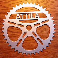 """Personalized 8"""" Bike Sprocket """"YOUR TEXT"""" REAL STEEL! Metal Art Man Cave Decor!"""