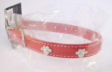 Collier Rouge pour chien avec motifs: 4 Pattes - Tour de cou  23 - 31 cm