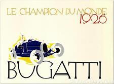 Bugatti Le Champion Du Monde1926 Poster Fine Art Lithograph Ernst Deutsch Dryden