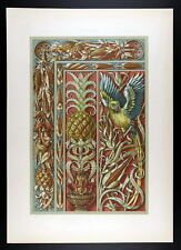1886 SEDER - ART NOUVEAU -  Pine Apple, Indian Corn, Pepper – Ananas, Mais, Papr