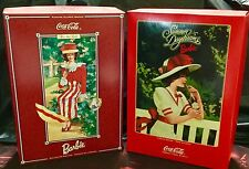 BARBIE COCA COLA LOT OF 2 DOLLS, AFTER THE WALK, SUMMER DAYDREAMS, MINT AWESOME