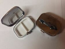 Jaguar E Type Series 1 ref101 Pewter Effect car emblem on silver metal pill box