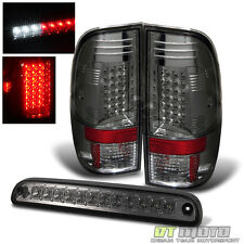 Smoked 08-16 F250 F350 F450 Super Duty Lumileds Led Tail Lights +3rd Brake Light
