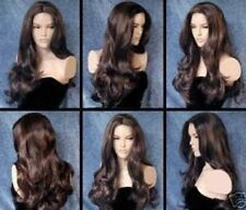 WJIA1300 fine long health dark brown Curly Hair wig wigs for modern women
