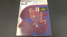 October 24 1970 Syracuse vs Navy Football Program